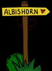 Albishorn Wegweiser